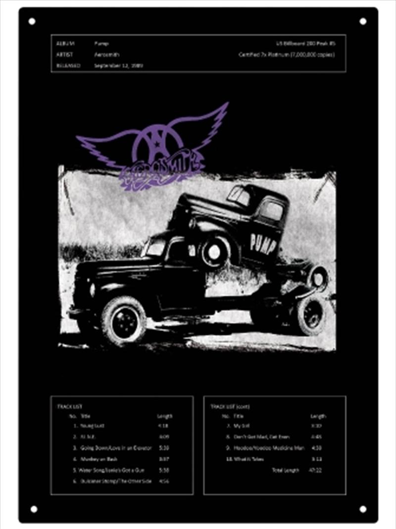 Aerosmith Pump Tin Sign | Merchandise