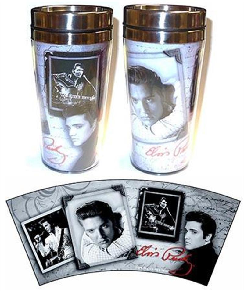 Elvis Frames Travel Mug   Merchandise