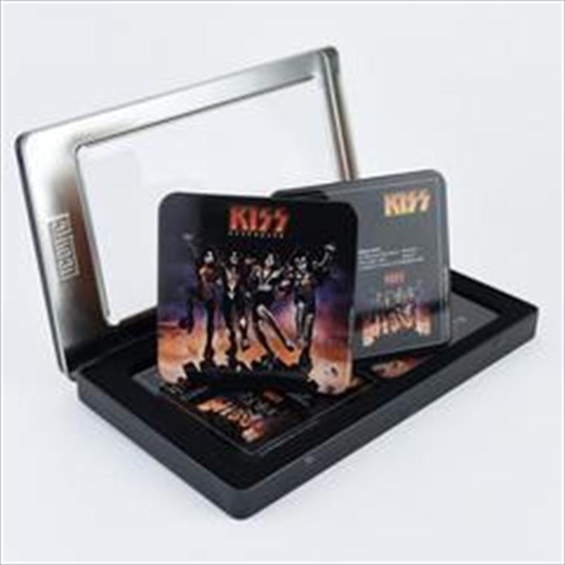 KISS 6pc Coaster Set in Tin Gift Box | Merchandise