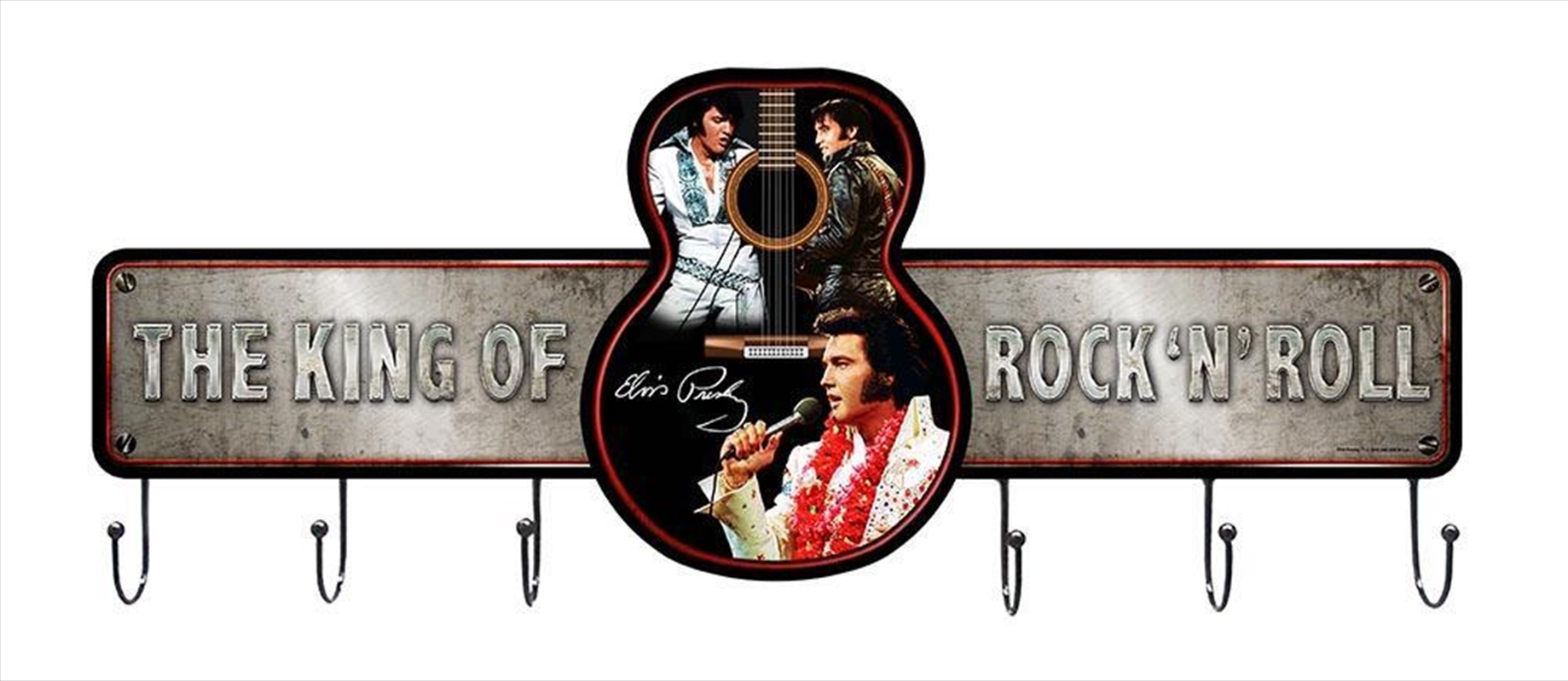 Elvis Metal Wall Hook The King of Rock | Homewares