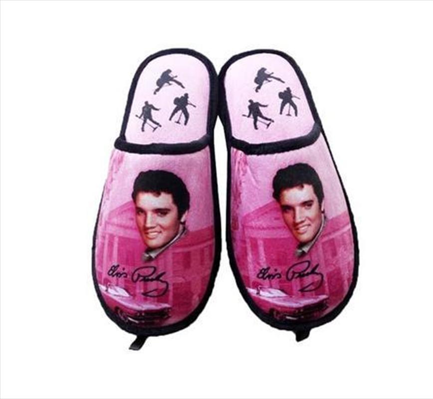 Elvis Slippers Pink   Apparel