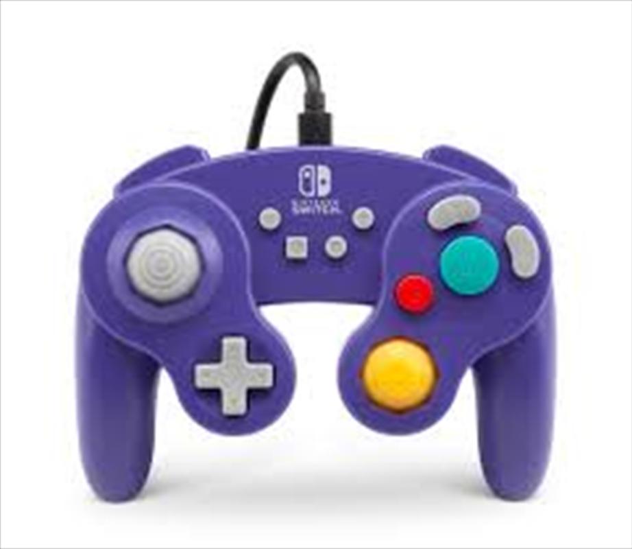Nintendo Switch Wired GameCube Controller - Purple   Nintendo Switch