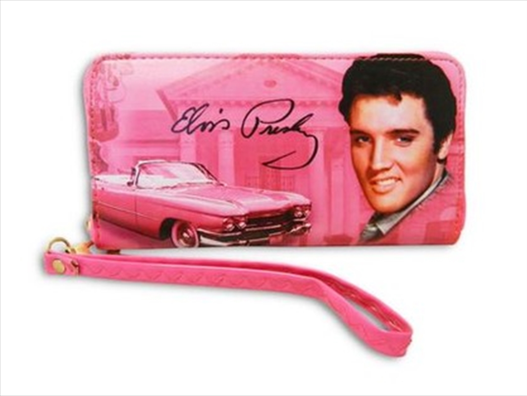Elvis Wallet Pink With Zipper | Apparel