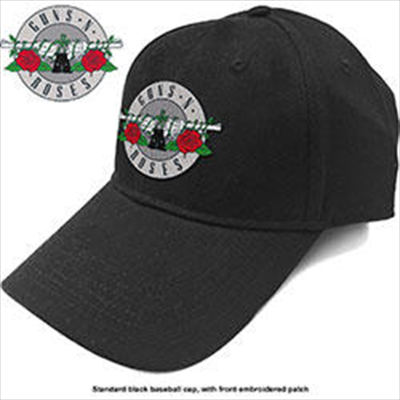 Guns N' Roses Unisex Baseball Cap: Silver Circle Logo | Apparel
