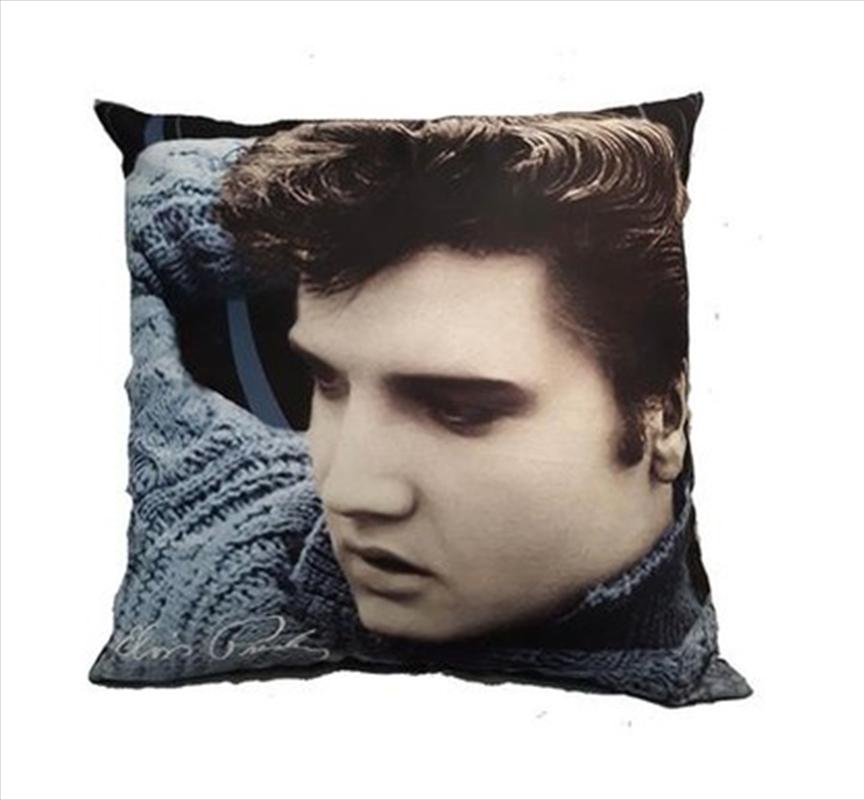 Elvis Pillow Blue Sweater | Homewares