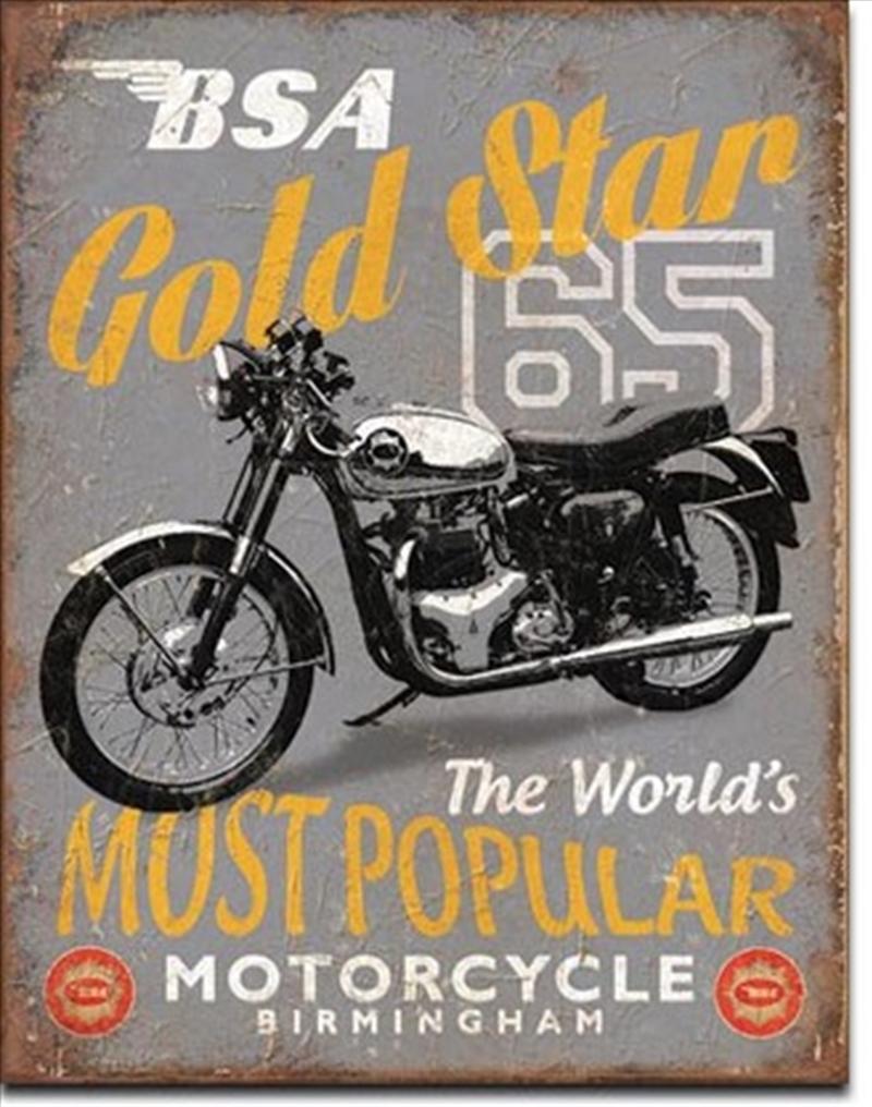 BSA - '65 Gold Star Tin Sign   Merchandise