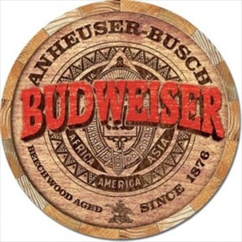 Budweiser Barrel End Tin Sign | Merchandise