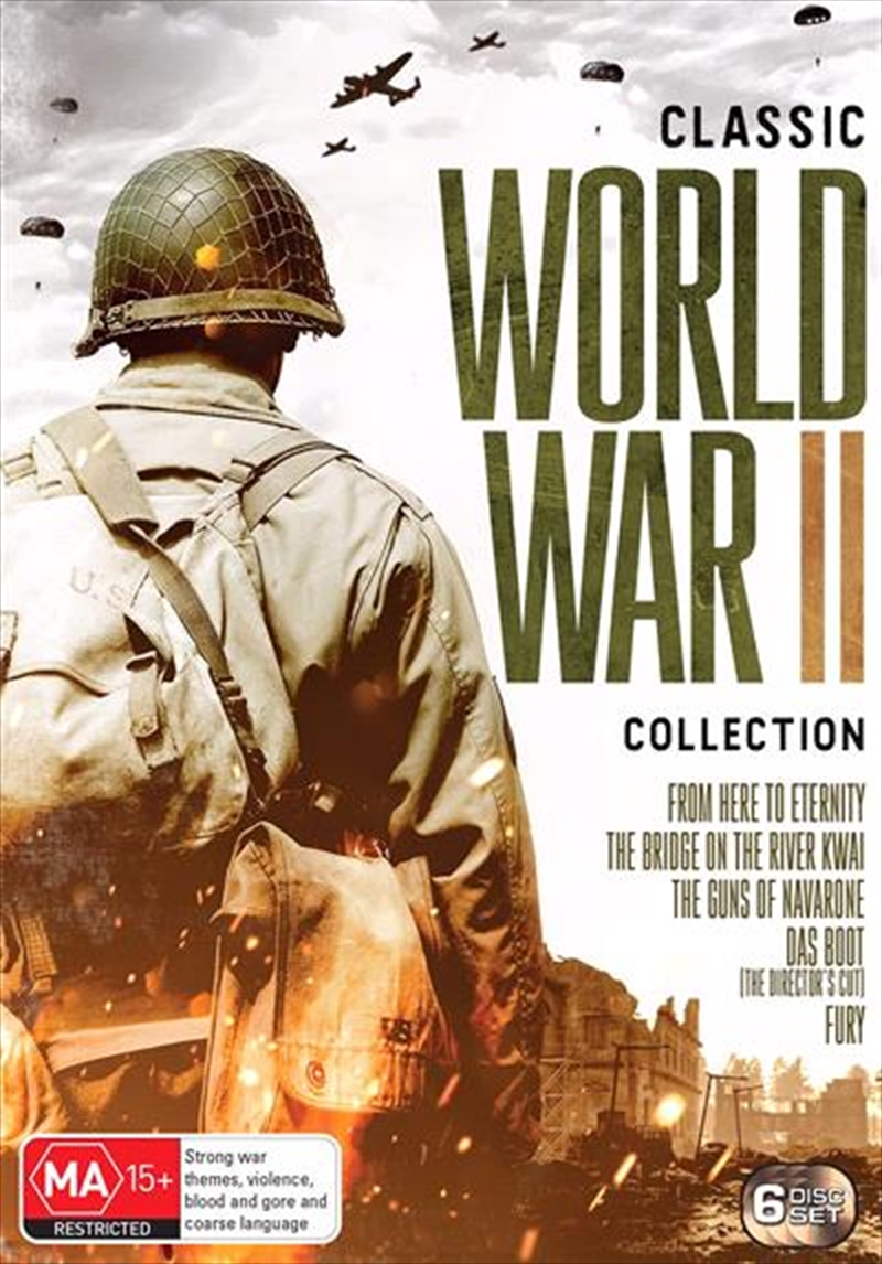 Bridge On The River Kwai / Das Boot / From Here To Eternity / Fury / The Guns Of Navarone | Five Mov | DVD