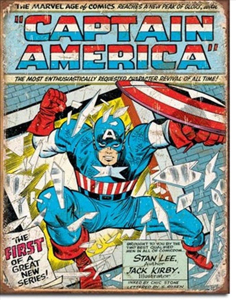 Captain America Comic Tin Sign | Merchandise