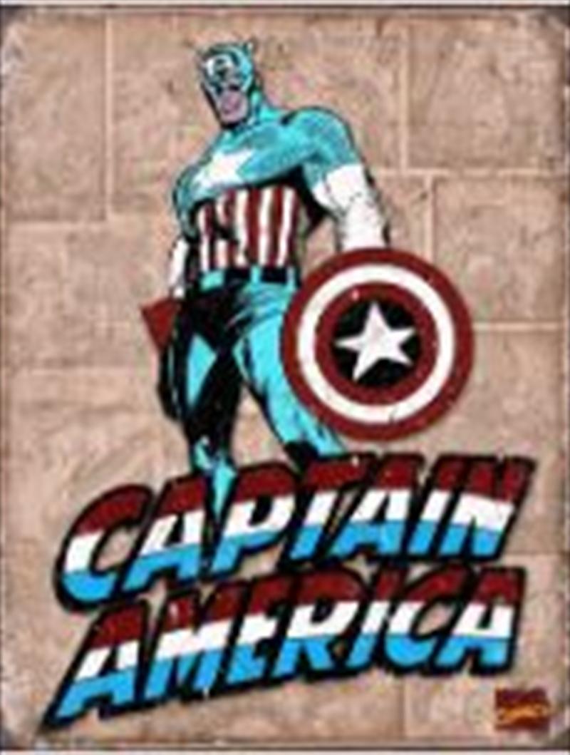 Captain America Retro Tin Sign | Merchandise
