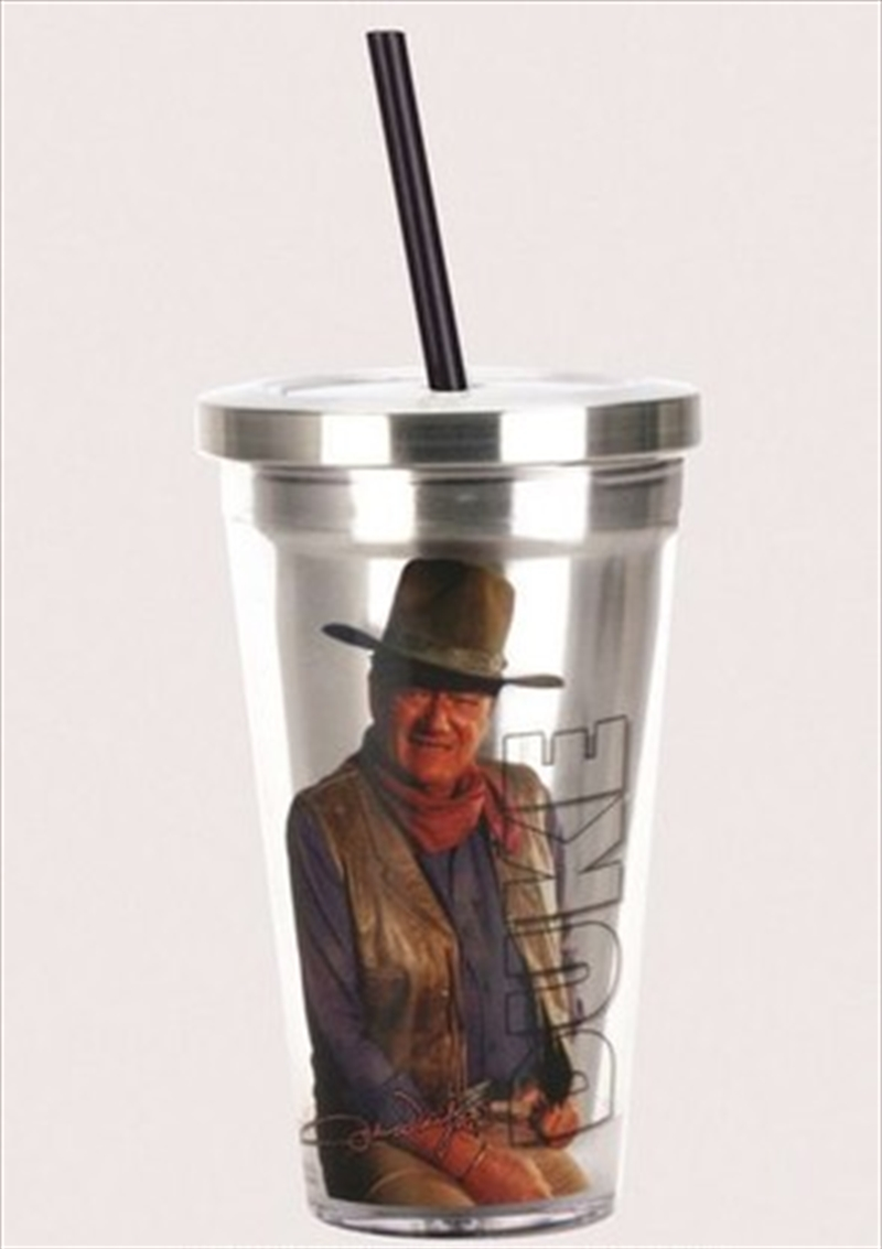 John Wayne Cup W Straw | Merchandise