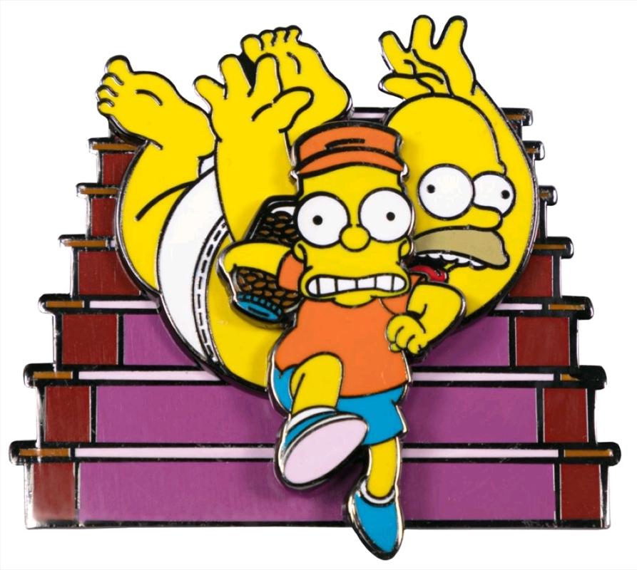 The Simpsons - Bart Raiding Homer's Change Jar Spinning Enamel Pin | Merchandise