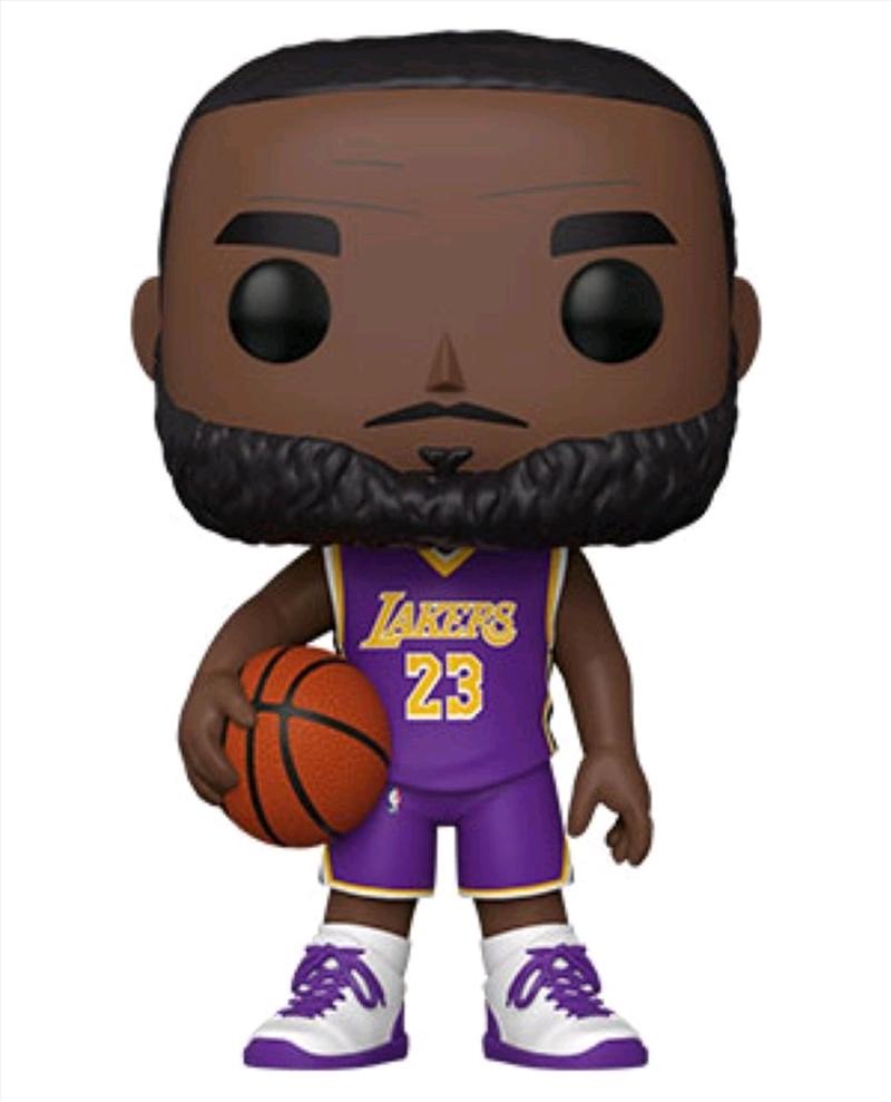 "NBA: Lakers - LeBron James Purple Jersey 10"" Pop! Vinyl   Pop Vinyl"