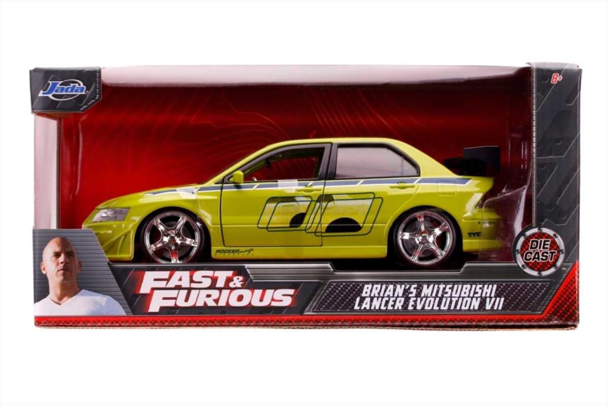 Fast & Furious - Brian's 2002 Mitsubishi Lancer Evolution VII 1:24 Scale Hollywood Ride | Merchandise