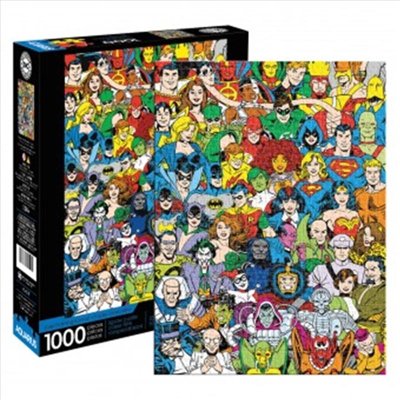 DC Comics Retro Cast - 1000 Piece Puzzle | Merchandise
