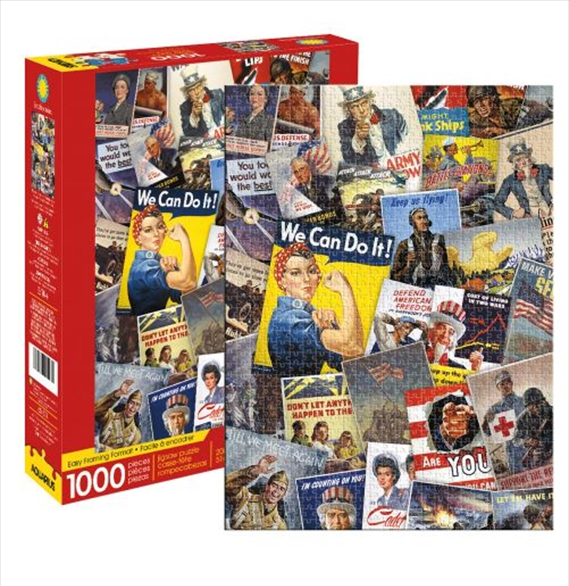 Smithsonian War Posters Collage 1000 Piece Puzzle | Merchandise