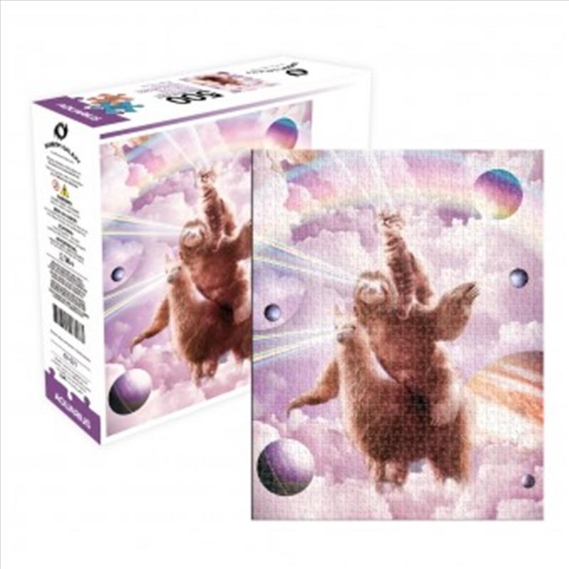 Laser Eyes Cat Sloth Llama 500 Piece Puzzle | Merchandise