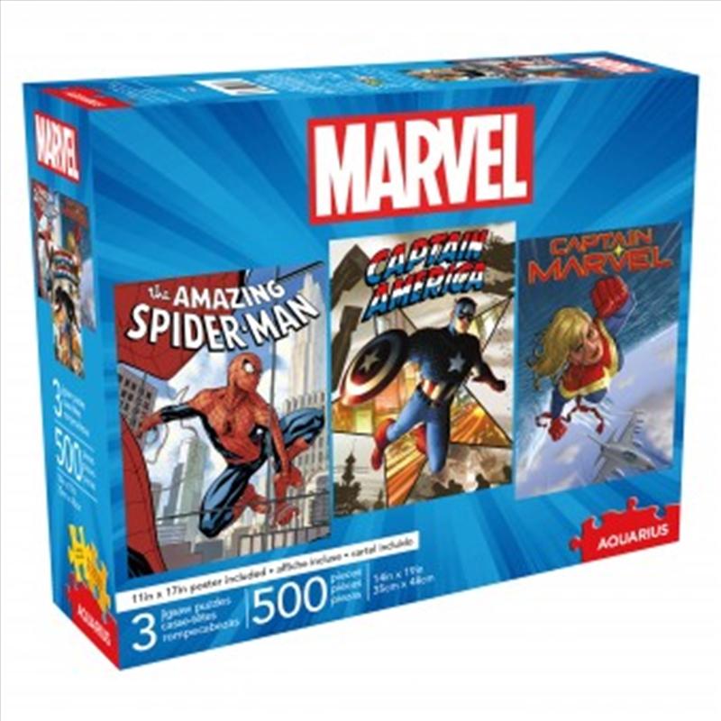 Marvel 500 Piece - 3 Puzzle Set | Merchandise