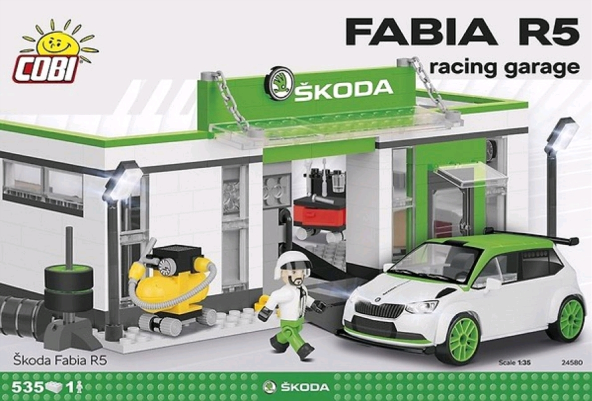 Skoda - Skoda Fabia R5 Racing Garage 525 piece Construction Set | Miscellaneous
