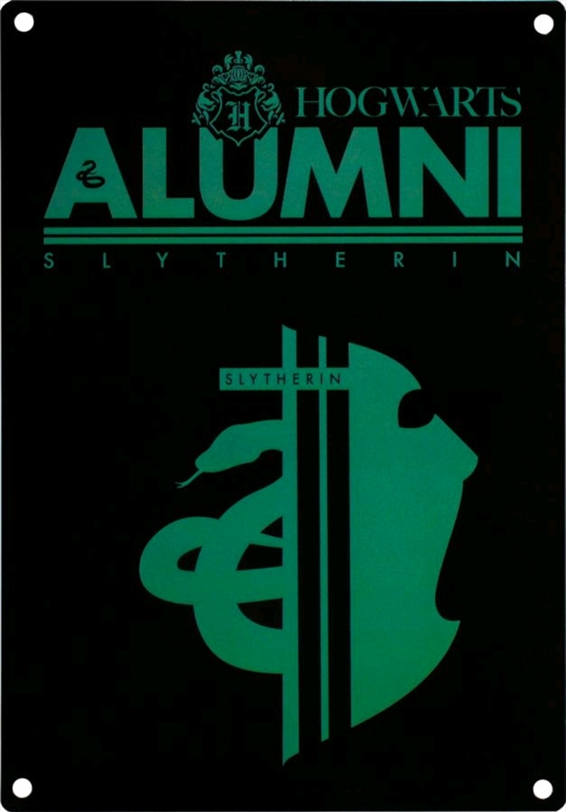 Harry Potter - Alumni Slytherin A5 Tin Sign | Merchandise