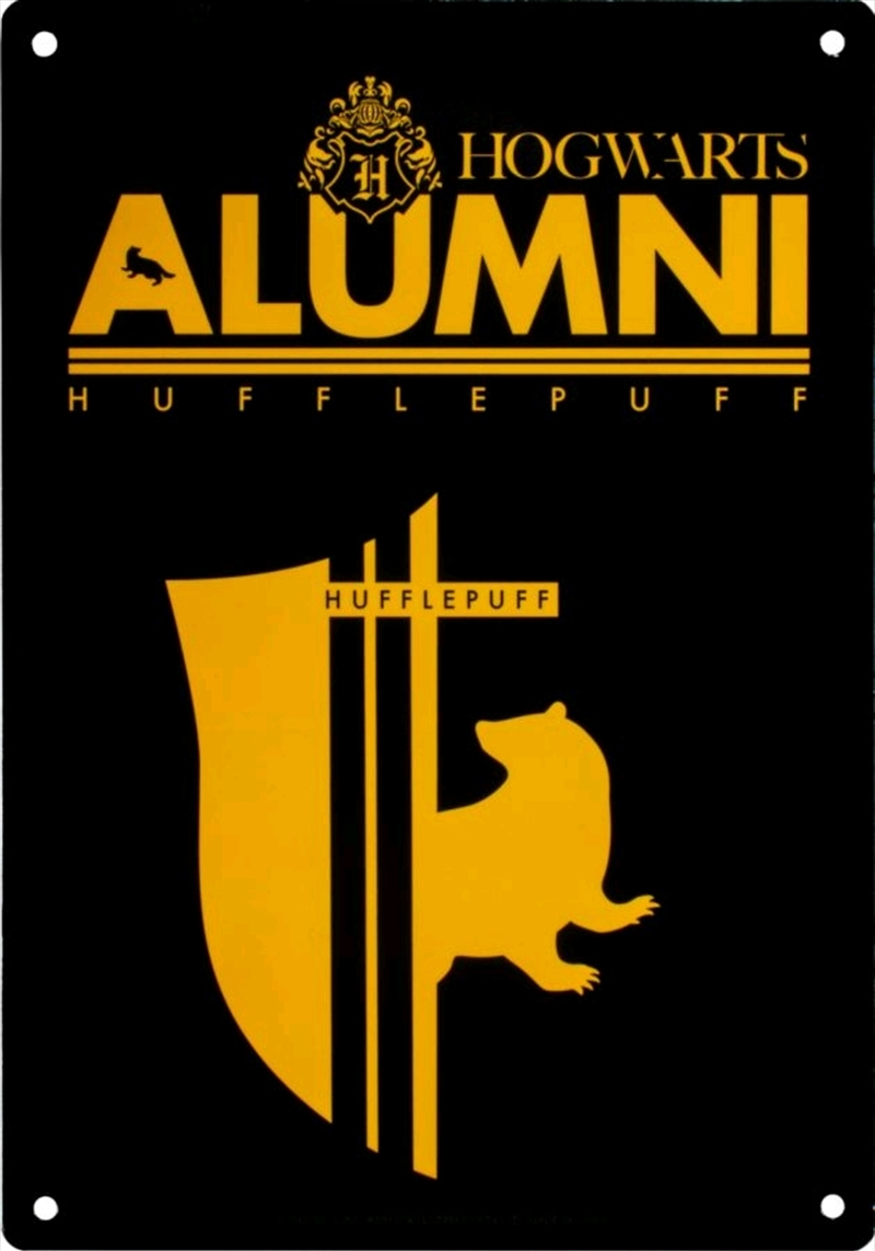 Harry Potter - Alumni Hufflepuff A5 Tin Sign | Merchandise