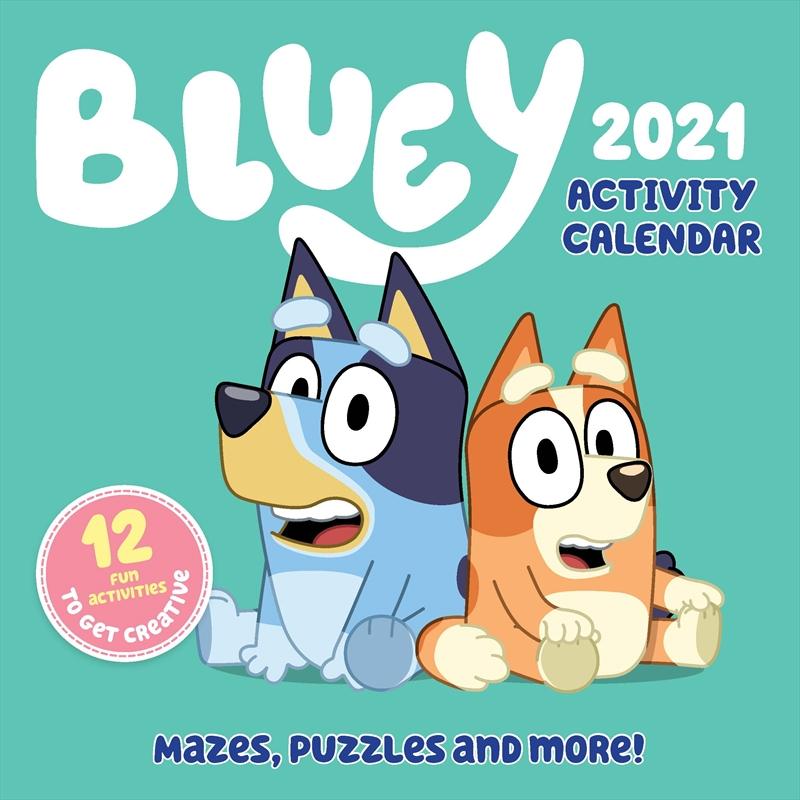 Bluey Acivity Calendar 2021 Square Calendar   Merchandise