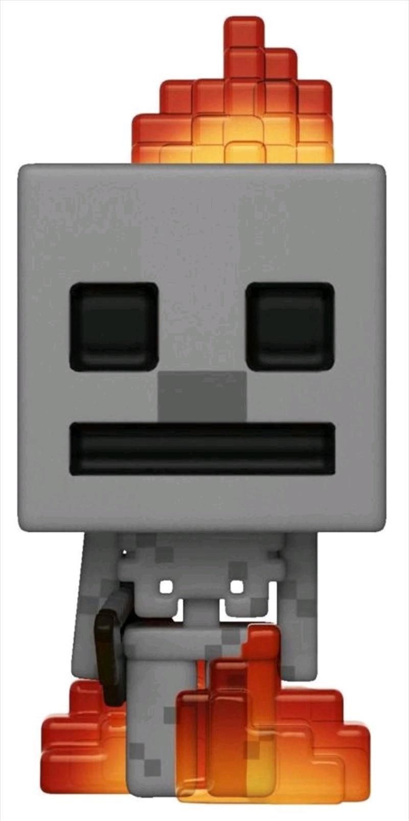 Minecraft - Skeleton with Fire US Exclusive Pop! Vinyl [RS] | Pop Vinyl