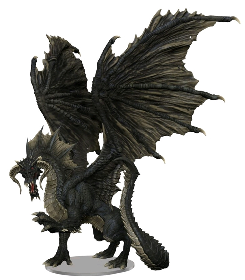 Dungeons & Dragons - Icons of the Realms Adult Black Dragon Premium Figure | Merchandise