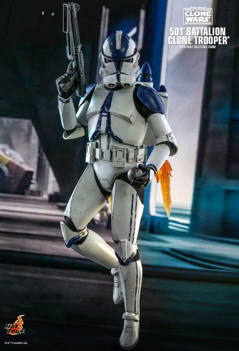 "Star Wars: The Clone Wars - 501st Battalion Clone Trooper 1:6 Scale 12"" Action Figure 