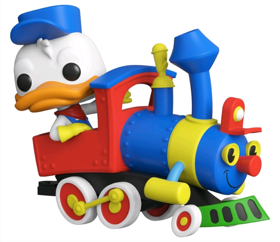 Disneyland 65th Anniversary - Donald in Train Engine Pop! Vinyl | Pop Vinyl