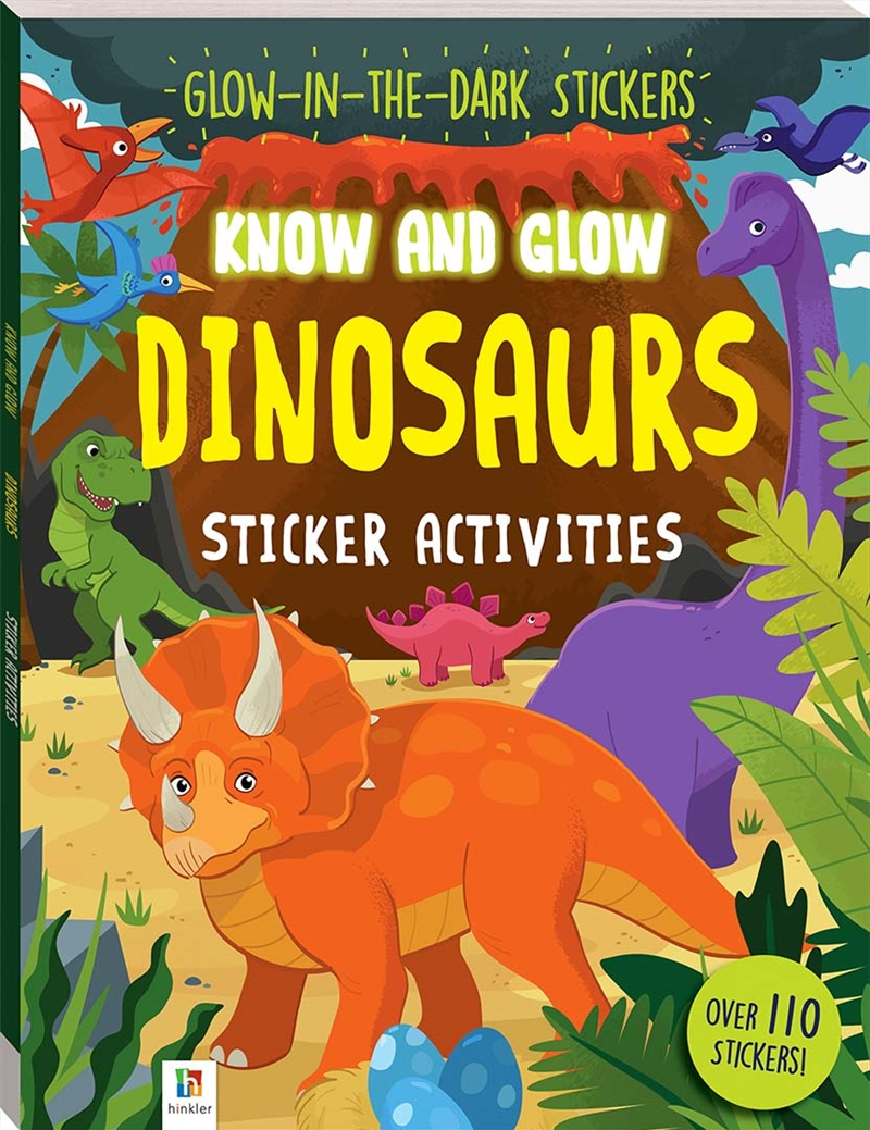 Dinosaurs Know And Glow Sticker  Activities | Colouring Book