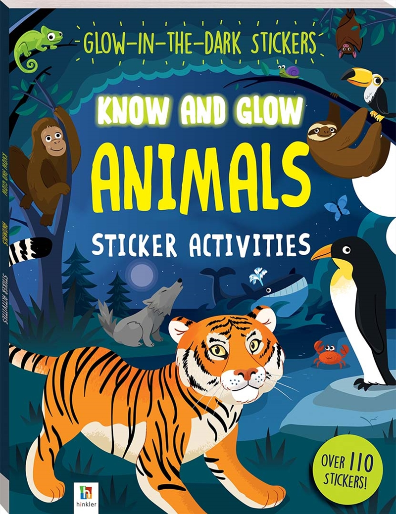 Animals Know And Glow Sticker Activities | Colouring Book