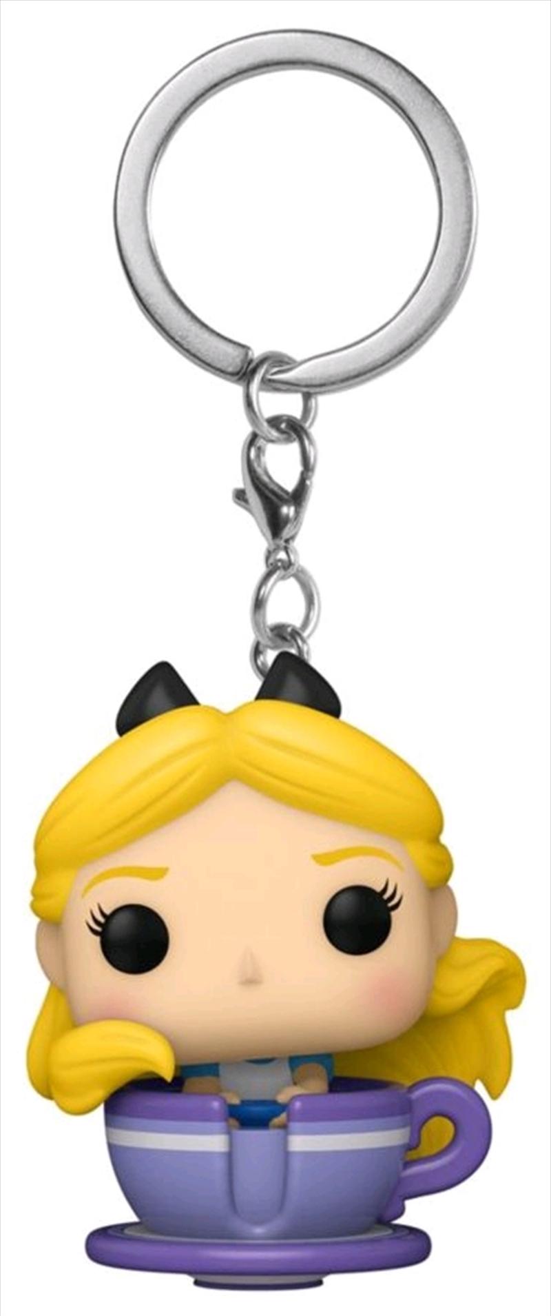 Disneyland 65th Anniversary - Alice in Teacup Pocket Pop! Keychain | Pop Vinyl