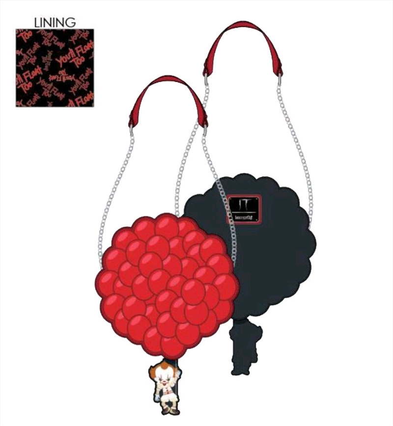 Loungefly - It - Pennywise You'll Float Too Ballooons Crossbody | Apparel