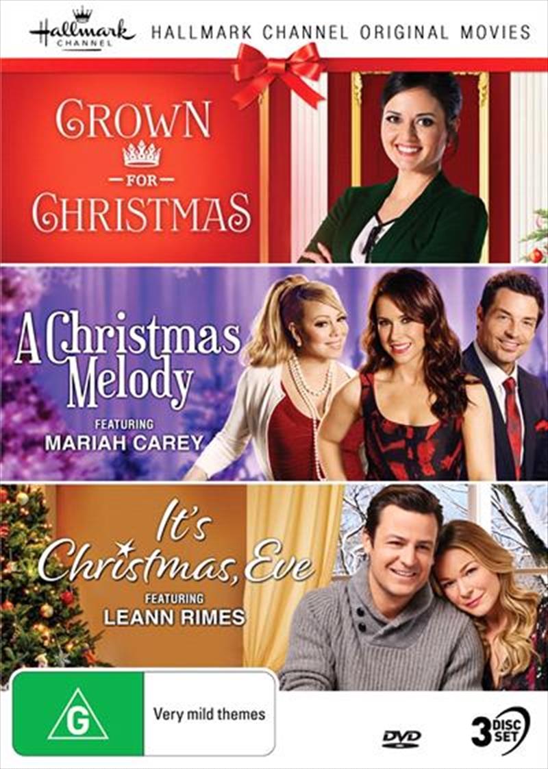 Hallmark Christmas - Crown For Christmas / Christmas Melody / It's Christmas, Eve - Collection 8   DVD