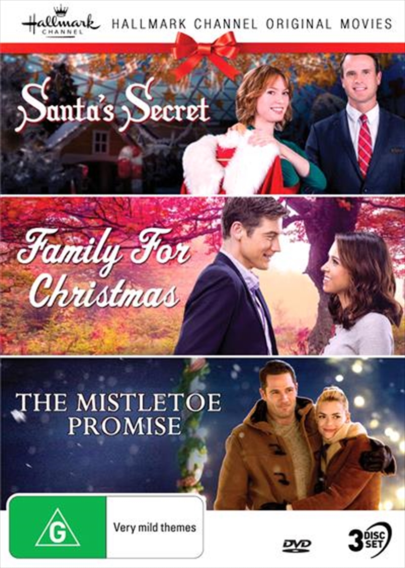 Hallmark Christmas - Santa's Secret / Family For Christmas / The Mistletoe Promise - Collection 10 | DVD