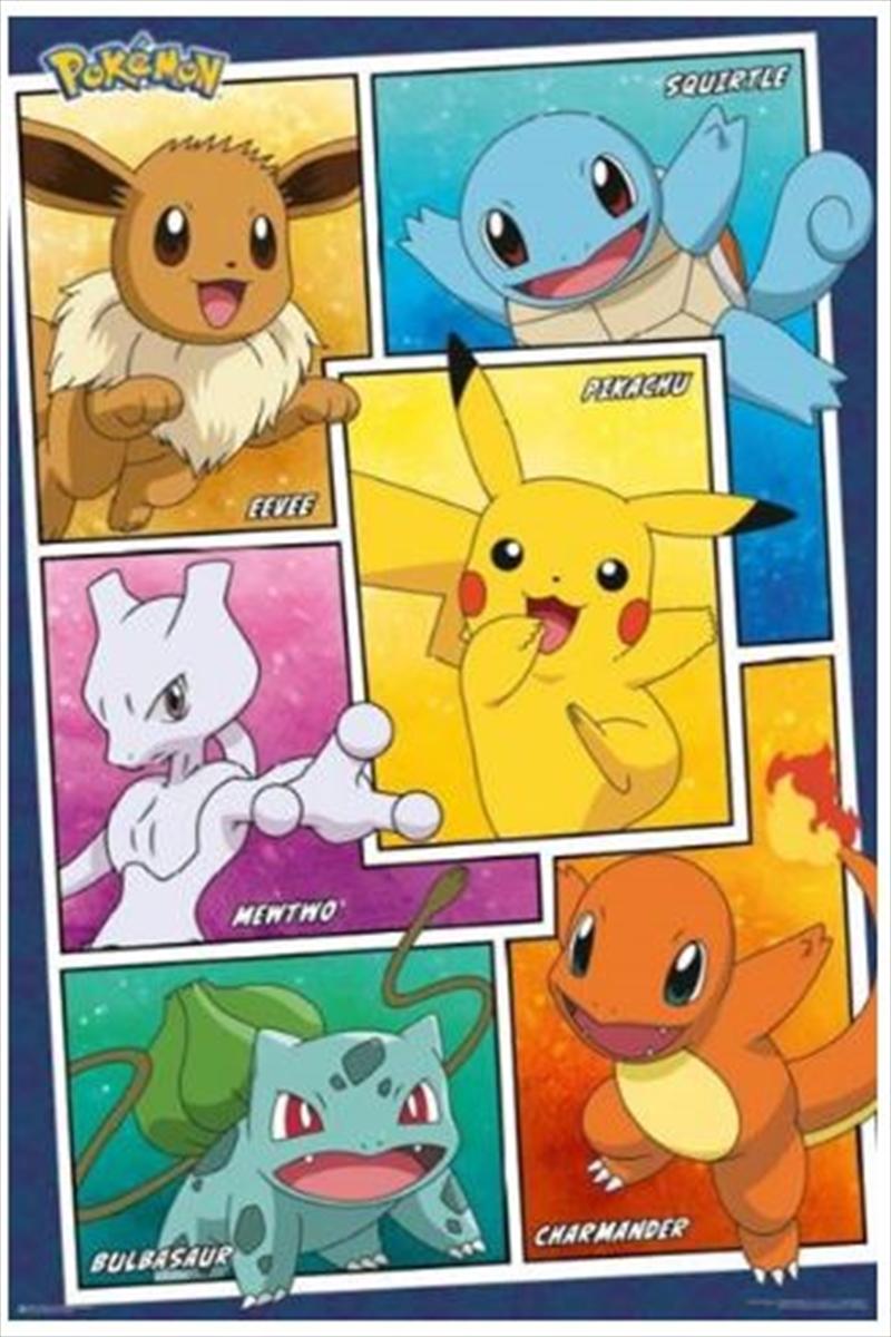 Pokemon Character Panels Poster   Merchandise