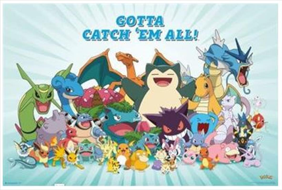 Pokemon All Time Favourites Poster | Merchandise