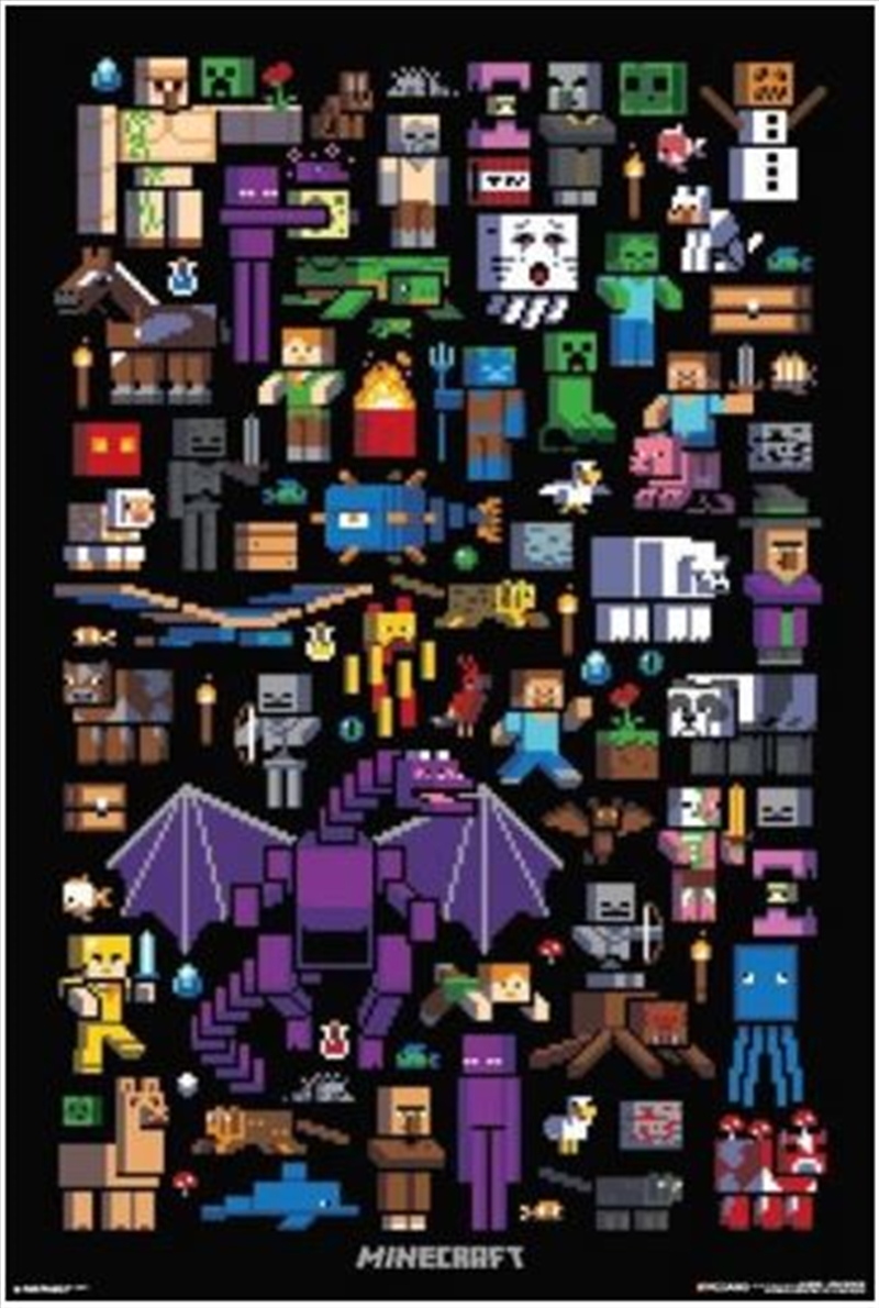 Minecraft Mobbery Poster | Merchandise