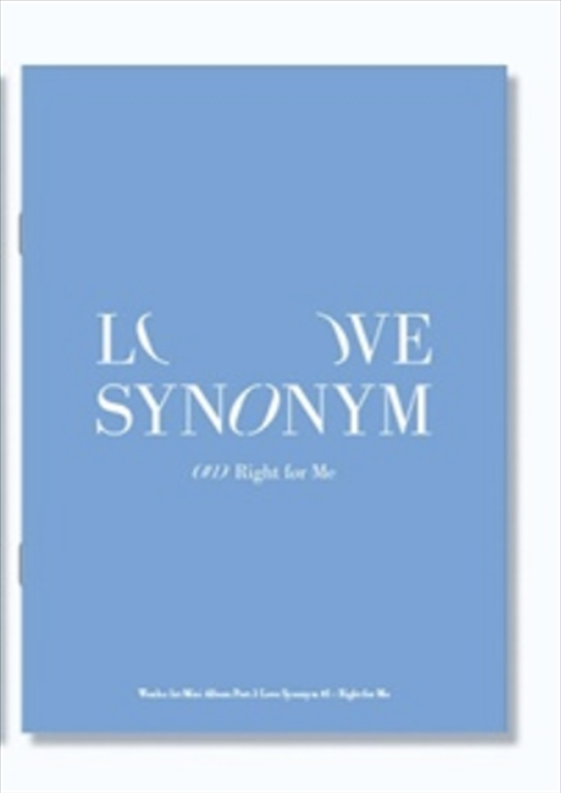 Love Synonym 1 - Right For Me | CD