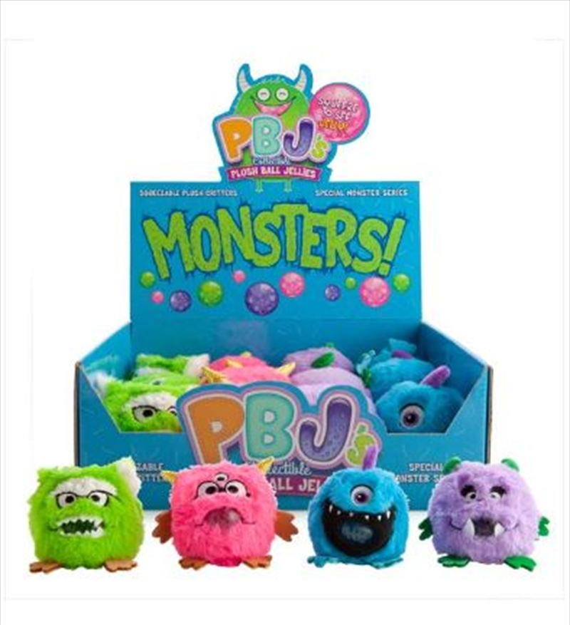 Monster Plush Ball Jellies - (SELECTED AT RANDOM) | Toy
