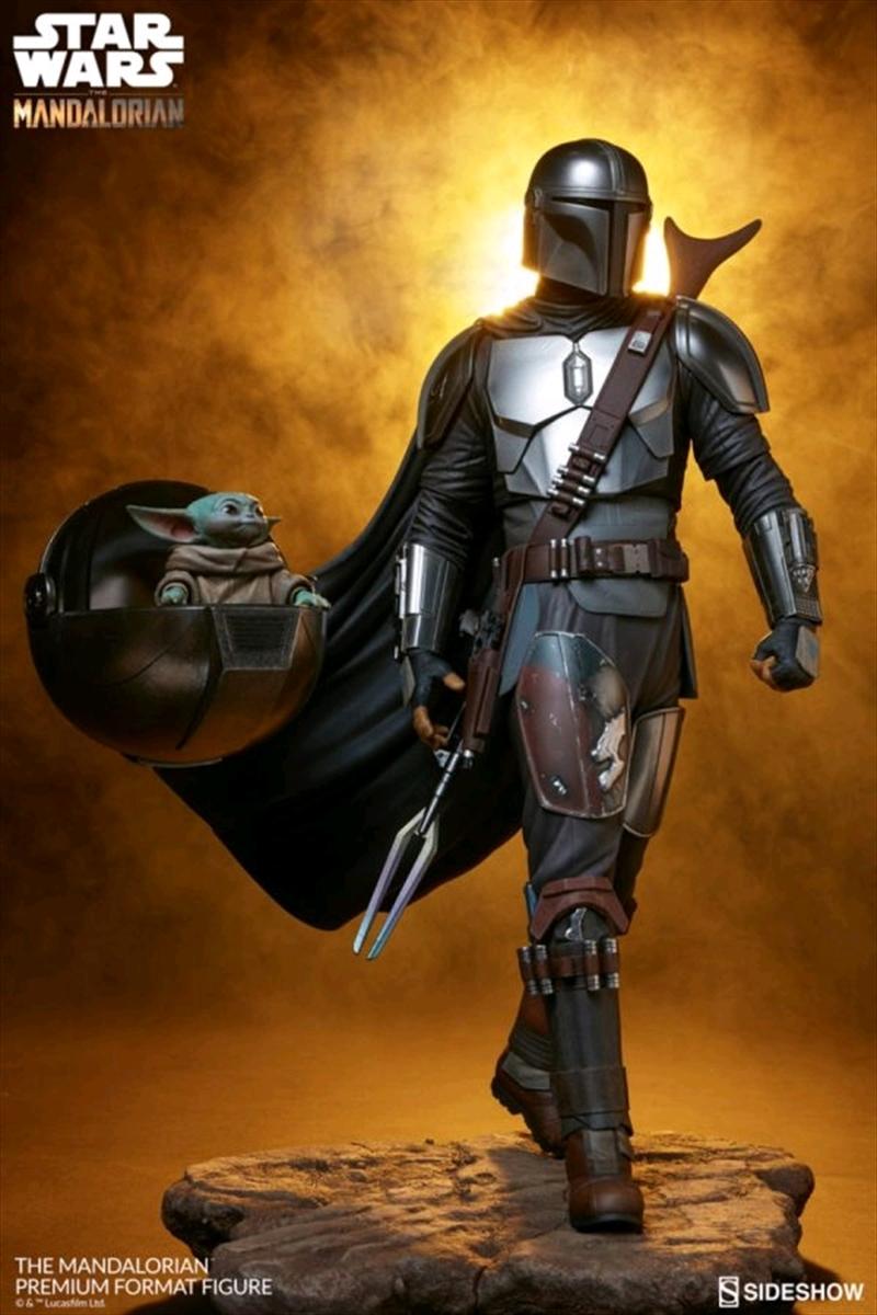 Star Wars: The Mandalorian - Mandalorian & the Child Premium Format Statue | Merchandise