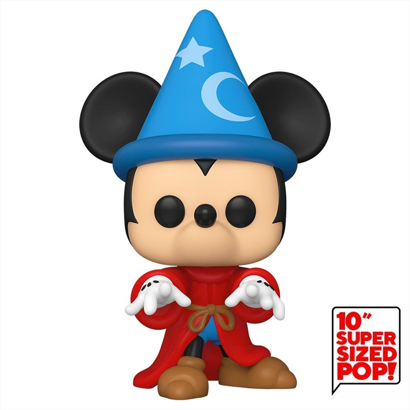 "Fantasia - Sorcerer Mickey 10"" US Exclusive Pop! Vinyl [RS] 