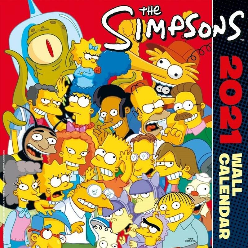 Simpsons 2021 Square Calendar | Merchandise