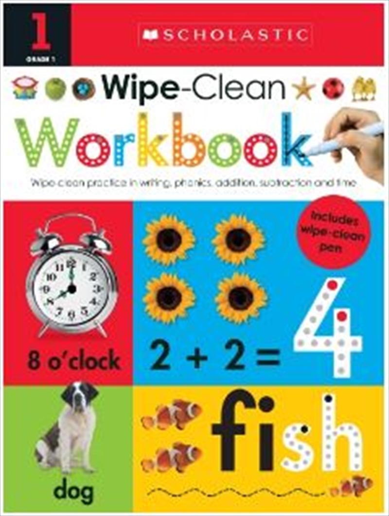 Wipe Clean Workbook Grade 1 | Spiral Bound