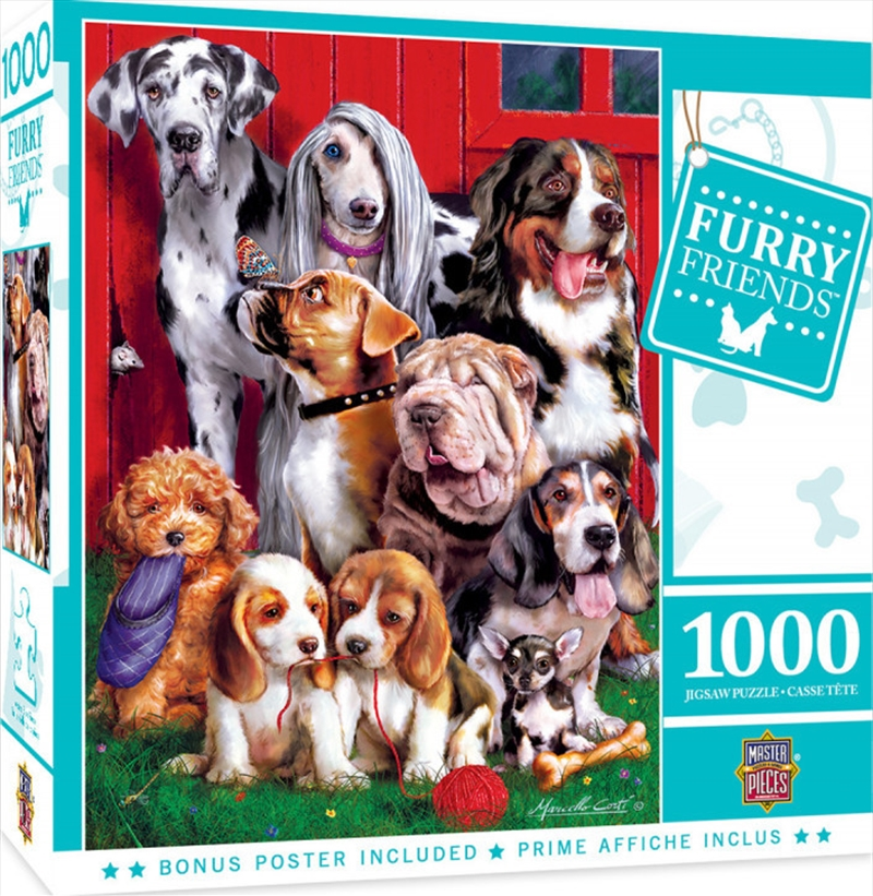 Furry Friends Sitting Pretty 1000 Piece Puzzle | Merchandise