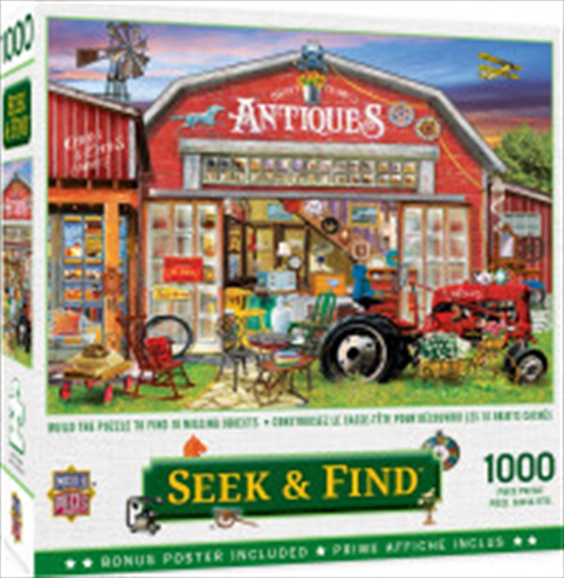 Seek And Find Antiques For Sale 1000 Piece Puzzle | Merchandise