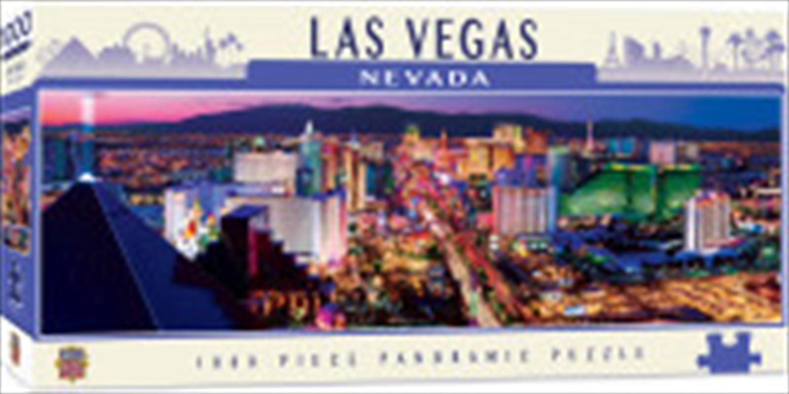 City Panoramic Las Vegas 1000 Piece Puzzle | Merchandise