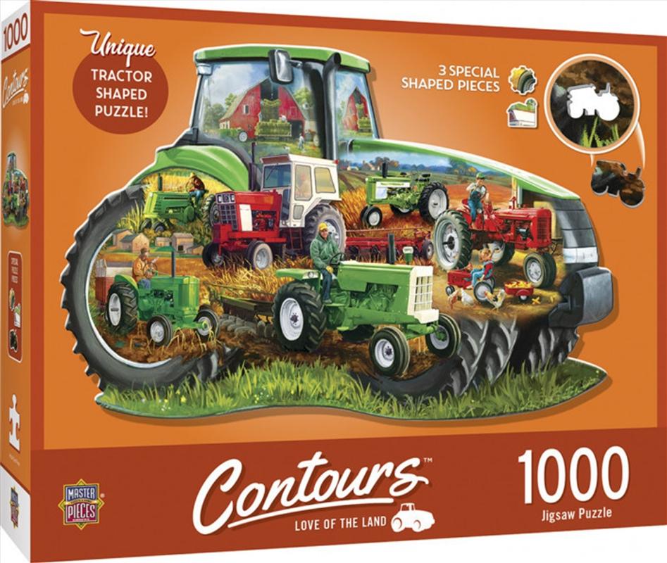 Contours Shaped Tractor Shape 1000 Piece Puzzle   Merchandise