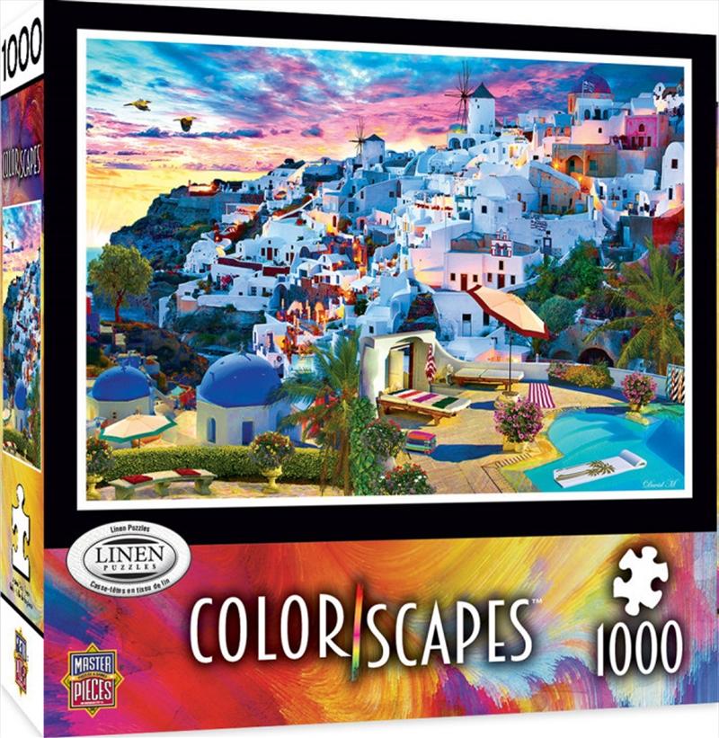Colorscapes Santorini Sky 1000 Piece Puzzle | Merchandise